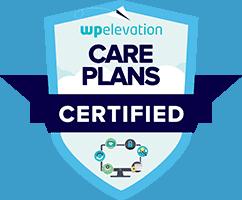 WP Elevation Care Plans Certified badge