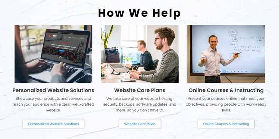 User experience design example | Peak Ed Designs