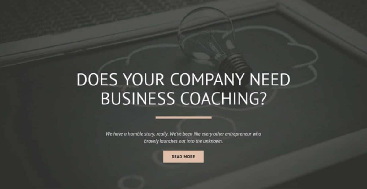 Use good psychology by being relatable on your coaching landing page